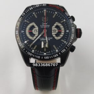 Tag Heuer Grand Carrera Calibre 17 RS2 Leather Strap Chronograph Men's Watch