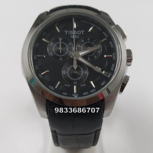 Tissot 1853 Coutrier Leather Strap Chronograph Men's Watch