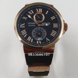 Ulysse Nardin Maxi Marine Blue Rose Gold Automatic Men's Watch
