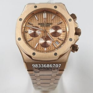 Audemars Piguet Royal Oak Chronograph 45mm Rose Gold Men's Watch