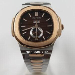 Patek Philippe Nautilus Annual Calendar Rose Gold Brown Dial Automatic Watch