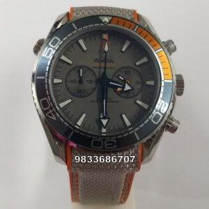 Omega Seamaster Planet Ocean Master Chronometer Chronograph Grey Men's Watch