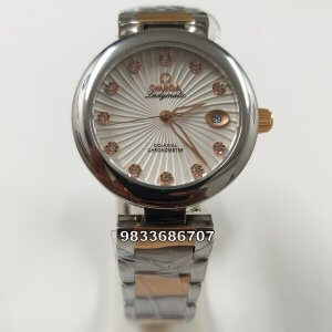 Omega Deville Ladymatic White Dial Dual Tone Women's Watch