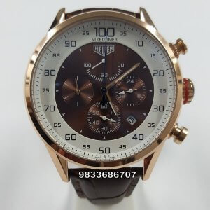 Tag Heuer Micrograph 100 Rose Gold Chronograph Men's Watch