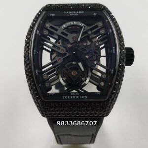 Franck Muller Carbon Diamond Skeleton Tourbillon Swiss ETA 7750 Valjoux Automatic Watch