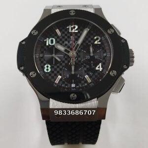 Hublot Big Bang Ceramic Bezel Silver Swiss ETA 7750 Valjoux Movement Automatic Watch
