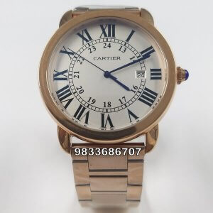 Cartier Ronde Solo De Rose Gold Men's Watch