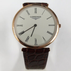 Longines La Grande Classique White Dial Roman Leather Strap Watch