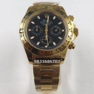 Rolex Cosmograph Daytona Full Gold Black Dial Swiss Automatic Watch