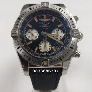Breitling Chronomat 44 Onyx Black Dial Swiss ETA 7750 Valjoux Automatic Watch
