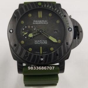 Luminor Panerai Submarsible Marina Militare Carbon Swiss Automatic Watch