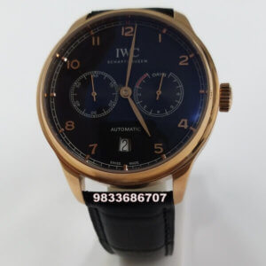 IWC Portugieser Rose Gold Blue Dial Power Reserve Swiss Automatic Watch