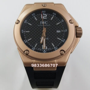 IWC Ingenieur Rose Gold Black Dial Swiss Automatic Watch