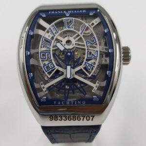 Franck Muller Yatching Skeleton Dial Swiss Automatic Watch