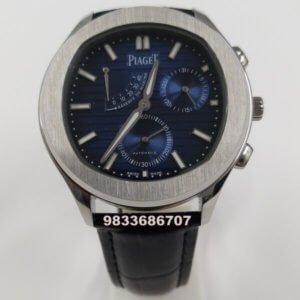 Piaget Guillocha Steel Blue Dial Swiss Automatic Watch