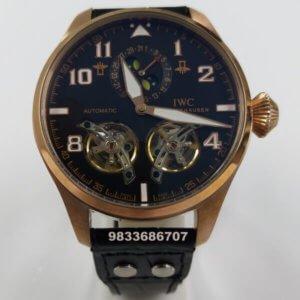 IWC Big Pilot Monphase Dual Tourbillon Black Dial Swiss Automatic Watch