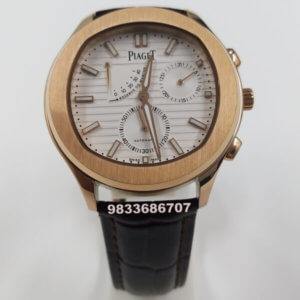 Piaget Guillocha Rose Gold White Dial Swiss Automatic Watch