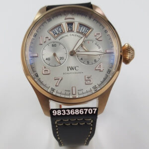 IWC Portugieser Annual Calender Rose Gold White Dial Swiss Automatic Watch