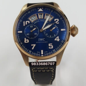 IWC Portugieser Annual Calender Rose Gold Blue Dial Swiss Automatic Watch