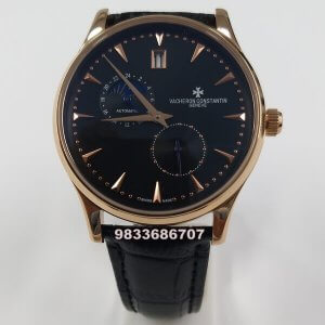 Vacheron Constantin Moonphase Rose Gold Black Dial Swiss Automatic Watch