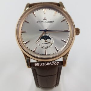 Jaeger Le Coultre Master Ultra Rose Gold White Dial Swiss Automatic Watch