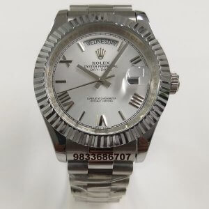 Rolex Day-Date White Dial Swiss Automatic Men's Watch