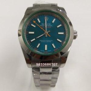 Rolex Milgauss Blue Dial Automatic Watch