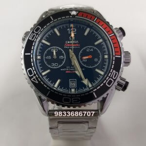 Omega Seamaster Co Axial Chronograph Steel Black Dial Watch