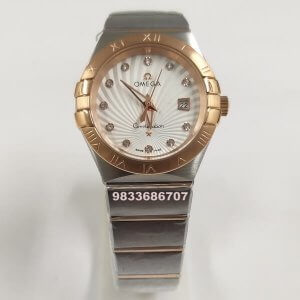 Omega Constellation Rose Gold Diamond Marker Women's Watch