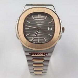 Patek Philippe Nautilus Dual Tone Silver Swiss Automatic Watch