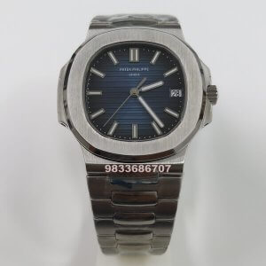 Patek Philippe Nautilus Steel Blue Dial Swiss ETA 7750 Valjoux Automatic Watch