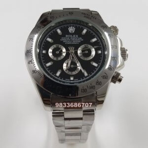 Rolex Cosmograph Daytona Steel Black Dial Swiss Automatic Watch