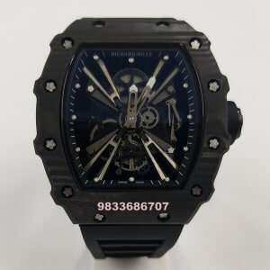 Richard Mille RM 1201 Full Black Swiss ETA Automatic Watch