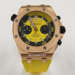 Audemars Piguet Royal Oak Offshore Diver Rose Gold Yellow Swiss Automatic Watch