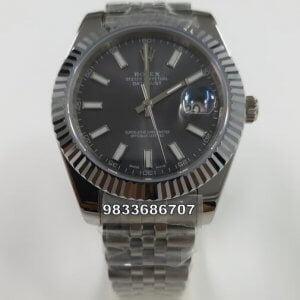 Rolex Date -Just Stick Marker Black Dial Swiss Automatic Watch