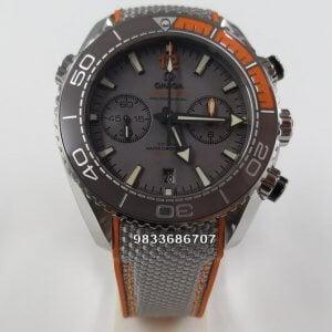 Omega Seamaster Planet Ocean Master Chronometer Grey Swiss ETA 2250 Valjoux Automatic Chronograph Watch