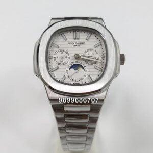 Patek Philippe Nautilus Annual Calendar Steel White Dial Swiss Automatic Watch