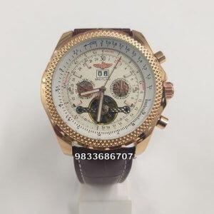 Breitling Navimeter Tourbillon Leather Strap Swiss Automatic Watch