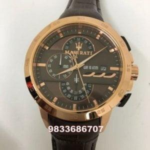 Maserati Ingegno Rose Gold Black Men's Watch