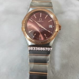 Omega Constellation Stick Mark Brown Dial Women's Watch