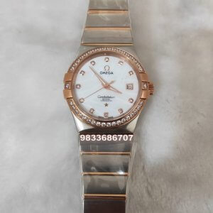 Omega Constellation Diamond Bezel Women's Watch