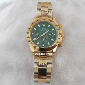 Rolex Cosmograph Daytona Gold Green Dial Swiss Automatic Watch
