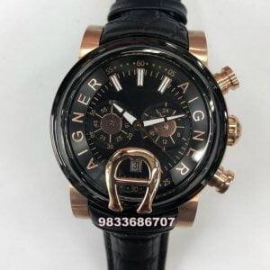 Aigner Bari Black Dial Chronograph Men's Watch