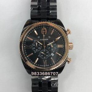 Aigner Bari Chronograph Black Men's Watch