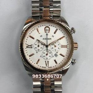 Aigner Bari Chronograph White Dial Dual Tone Men's Watch