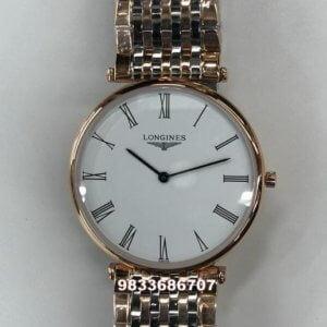 Longines La Grande Classique White Dial Roman Dual Tone Watch