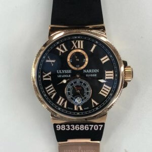 Ulysse Nardin Maxi Marine Black Rose Gold Automatic Men's Watch