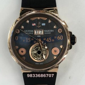 Ulysse Nardin Marine Grand Tourbillon Hand Wound Black Swiss Automatic Watch