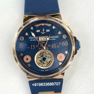 Ulysse Nardin Marine Grand Tourbillon Hand Wound Blue Swiss Automatic Watch