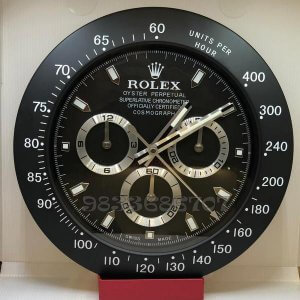 Rolex Daytona Black Wall Clock